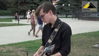 «Музыкальный фонтан» на площади Победы в Горловке