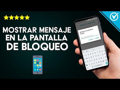 Cómo Poner un Mensaje, Frase o Texto en la Pantalla de Bloqueo de mi Móvil Android o iPhone