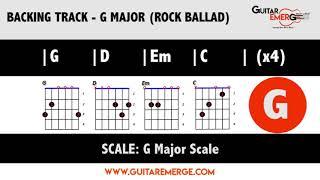Backing Track   G Major Rock Ballad G D Em C
