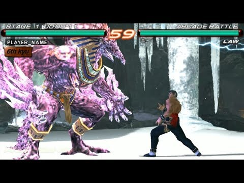 Tekken 6 Psp Bosses 1 2 Azazel Playthrough Youtube