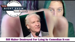 "Bill Maher claims ""Hard to Make Fun of Biden"" (Destroyed by comedian K-von)"