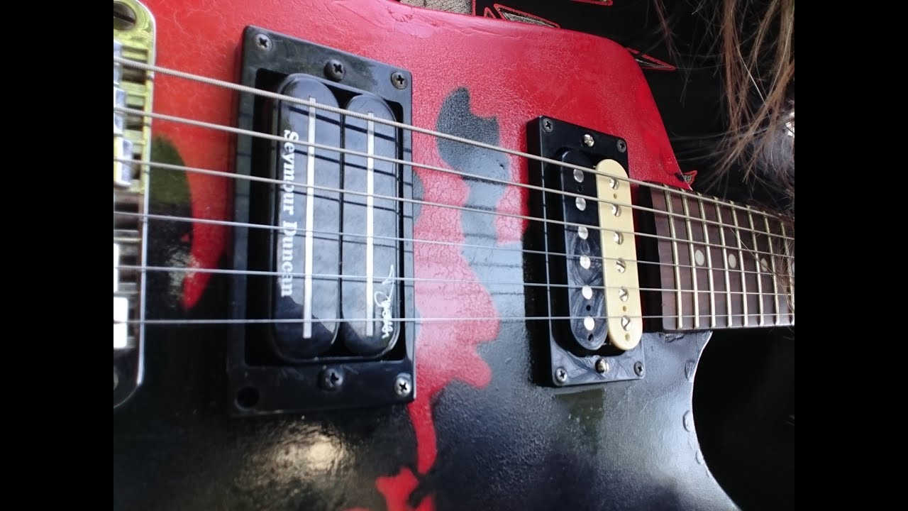 Dean Guitar - Seymour Duncan Dimebucker and 59 Humbucker \