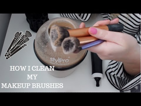 HOW I CLEAN MY MAKEUP BRUSHES USING THE STYLPRO EXPERT