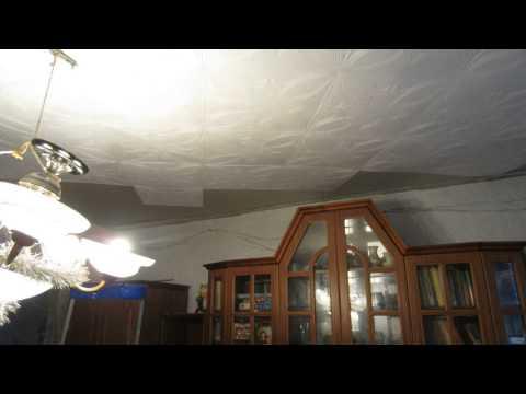 Укладка пенопластовой плитки на потолок