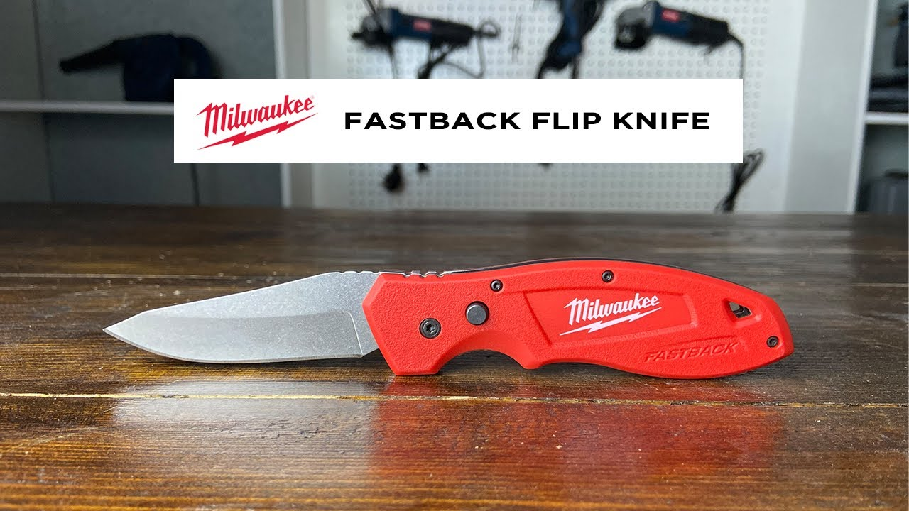 Milwaukee Fastback Flip Knife In Action