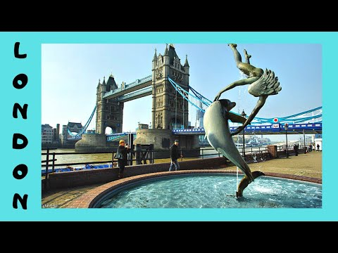 Beautiful Girl with A Dolphin fountain, London, England
