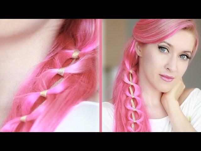 Tuto coiffure kawaii pour cheveux longs ❤ Chaine tressée pour tous les jours , YouTube
