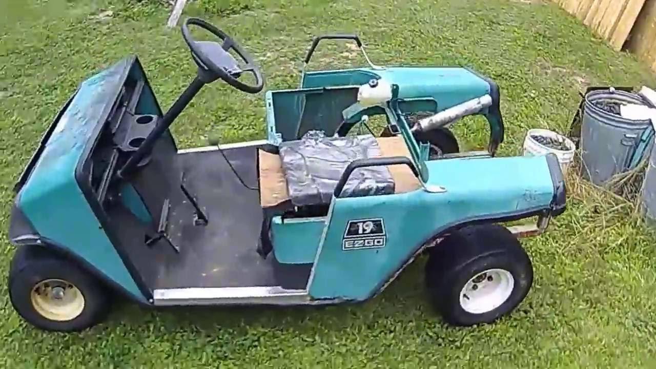 Sj4000 Action Cam Romp In Honda Atv Powered Golf Cart