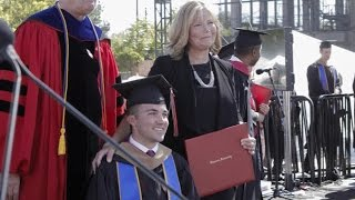 Mom Who Attended Every Class With Quadriplegic Son Gets Honorary MBA thumbnail