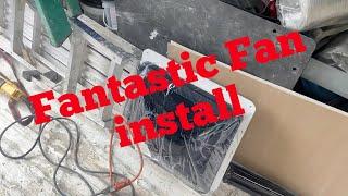 Installing a fantastic fan in my work truck/van life