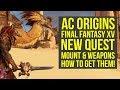Assassin's Creed Origins DLC NEW FREE MOUNT & WEAPONS from Final Fantasy XV (AC Origins DLC)