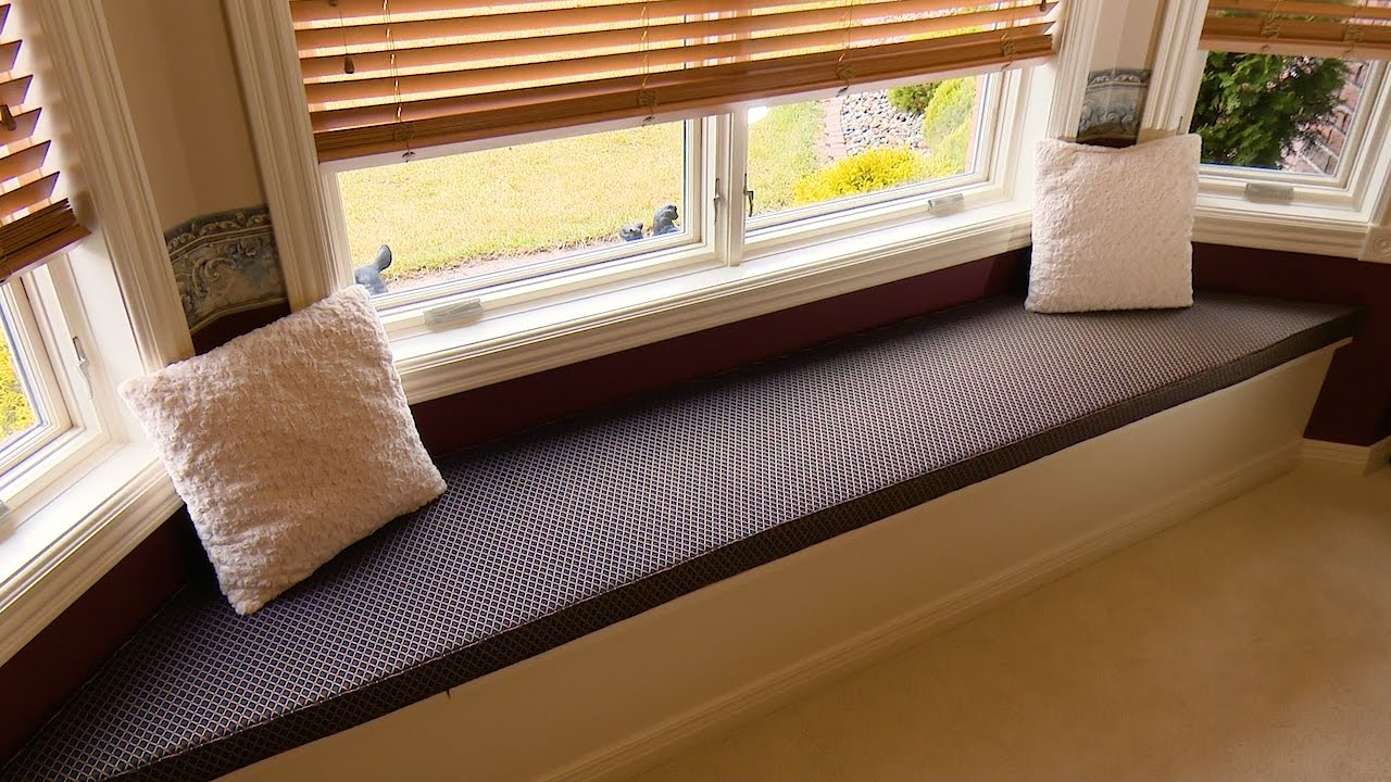 How To Make A Window Seat Cushion Youtube