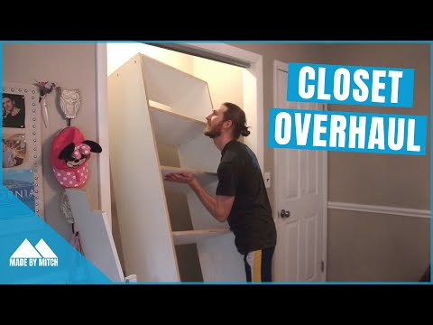 This Closet was a Mess! | DIY Closet Build-in