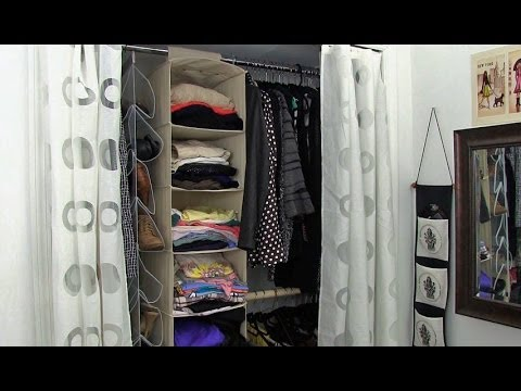 How To Organize A Bedroom how to organize your bedroom closet - youtube