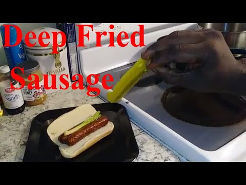 Fried Sausage (Ghetto Gourmet) Fried Beef Bratwurst Healthy Junk Food Recipe - 2018