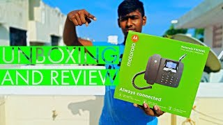 Motorola Fixed Wireless Phone FW200L Unboxing And Review | Sim போடு Landline பேசலாம் | DotTech