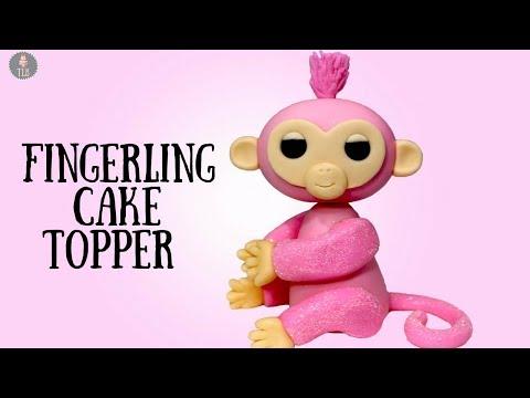 Rose Glittery Fingerling Cake Topper Tutorial!