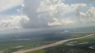 Aterrizaje, vuelo Caracas-San Fernando de Apure en Conviasa. Paisaje inigualable