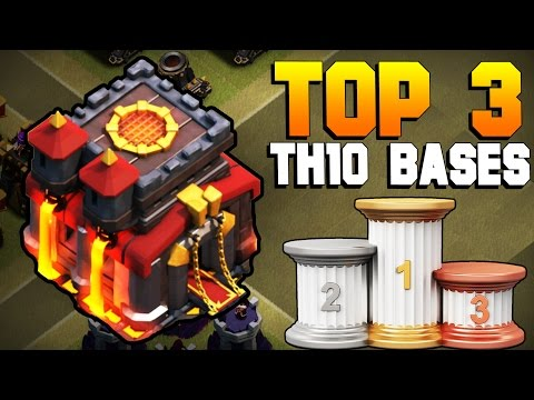 Clash of Clans | TOP 3 BEST TH10 War Base 2017 | CoC NEW Town Hall 10 Defense [TH10 2017]