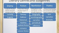 Literary Genres and Subgenres (Fiction, Nonfiction, Drama, and Poetry) - Video and Worksheet