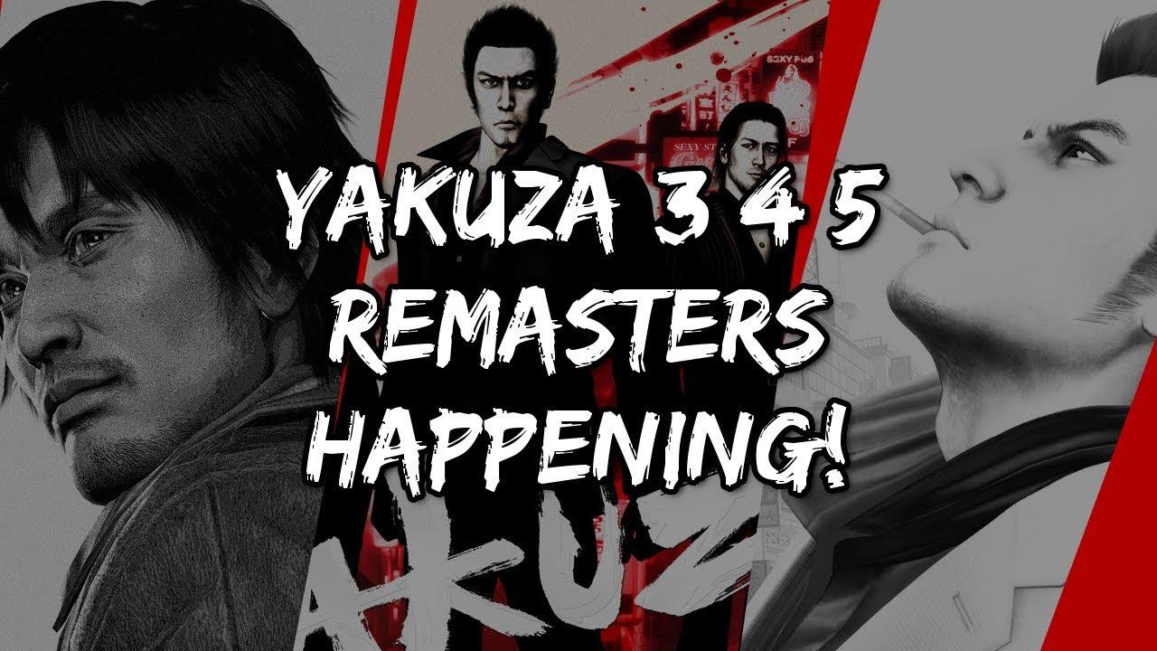 Yakuza 3/4/5 Remasters Coming To PS4