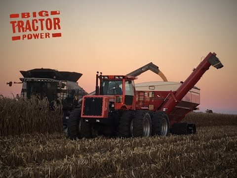 Big Tractor Power at Sunset