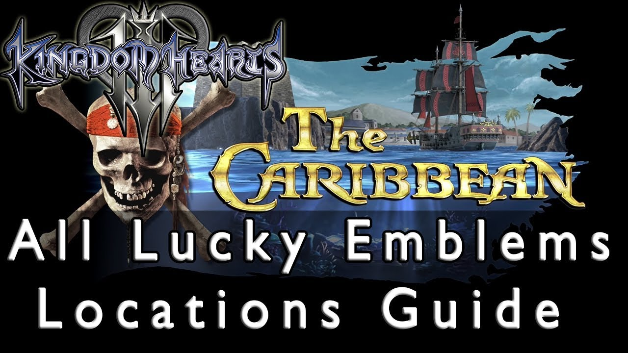 Kingdom Hearts 3 All The Caribbean Lucky Emblem Locations Guide