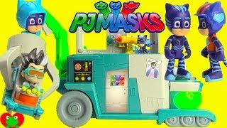 PJ Masks Romeo's Lab Playset Catboy Squared Gekko and Owlette