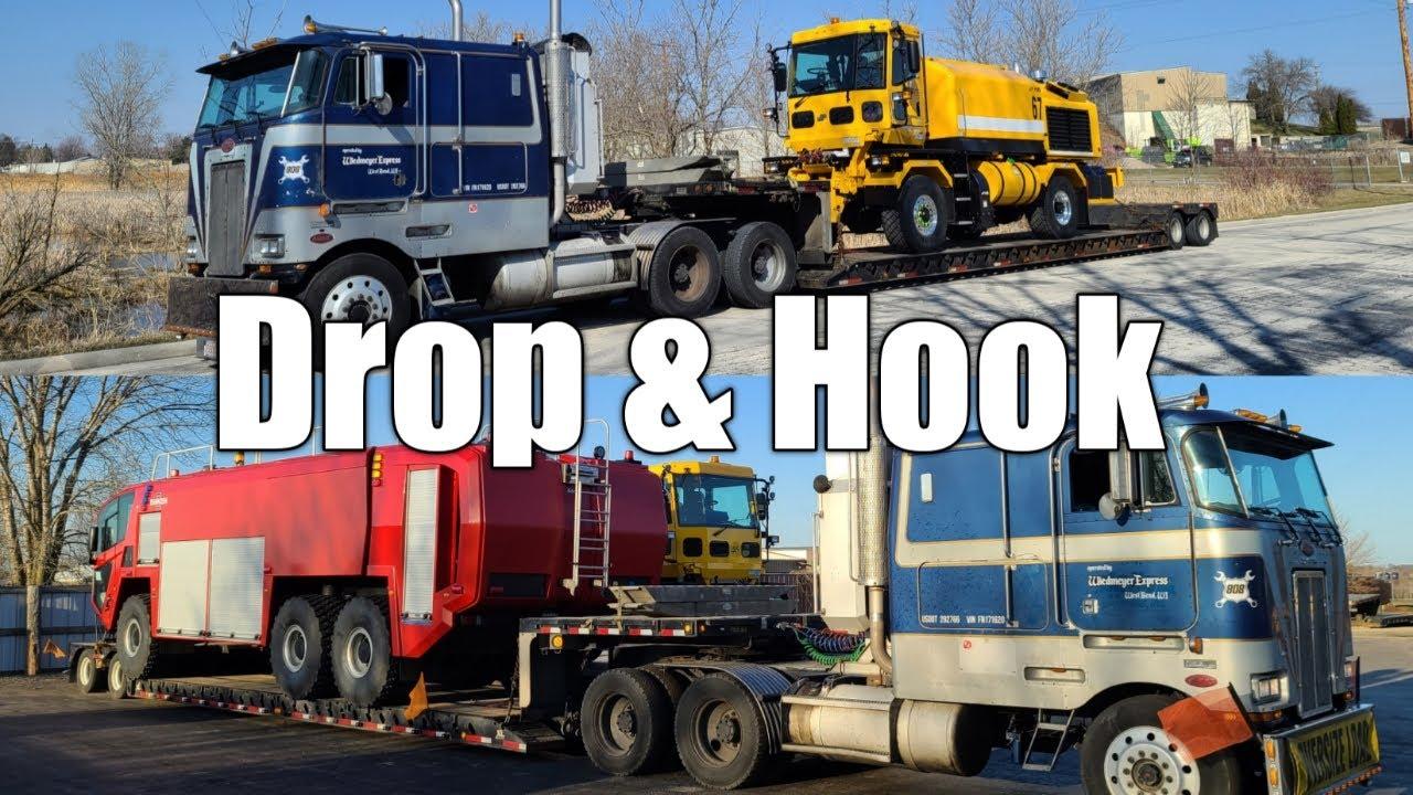 Hauling MB Snow Truck, Drop And Hook A Striker Fire Truck