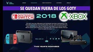 GOTY 2018 LOS EXCLUSIVOS DE NINTENDO SWITCH Y XBOX ONE YA NO PODRÁN SER EL JUEGO DEL AÑO 😱