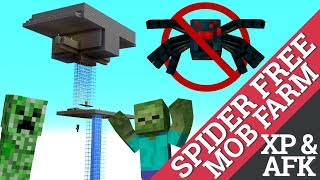 How to Make a Mob Farm in Minecraft WITH NO SPIDERS: Minecraft XP Farm Tutorial with Avomance