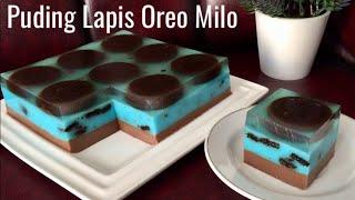 Resep Puding Lapis Oreo Milo