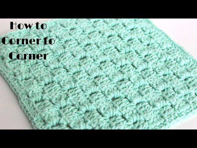 Corner-to-Corner Dishcloth Pattern - Amanda Crochets