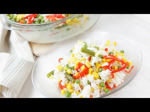 Как приготовить рис с овощами замороженными