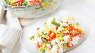 Рис | Рецепт с замороженными овощами | Книга Рецептов