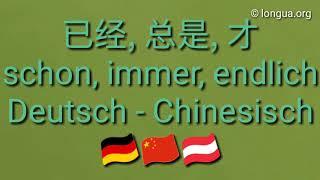 Deutsch lernen - Chinesisch lernen - Adverb immer, nie, wieder 总是 又 不 才