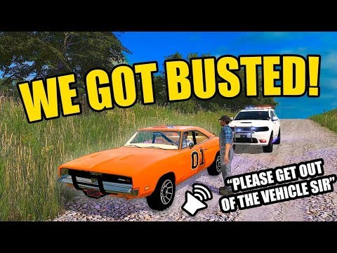 DUKES OF HAZARD ROLEPLAY- RUNNING FROM ROSCO WITH THE GENERAL LEE | FARMING SIMULATOR 2017