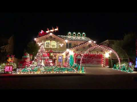 2017 Christmas Light Show -Thunderstruck