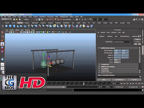 "CGI 3D Tutorial HD: ""Creating Newton's Cradle Using Physics in Maya"" -  by Studio Four Media"