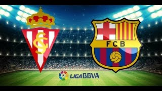 Video Gol Pertandingan Sporting Gijon vs FC Barcelona