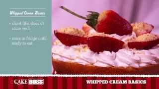 Whip Cream Cake Frosting Basics - Dessert Tips & Techniques - Cake Boss Baking