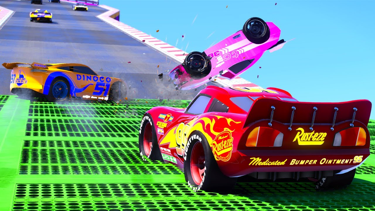 452 CANYON ACTION RACETRACK LIGHTNING MCQUEEN NEXT GEN CARS 3 RACE