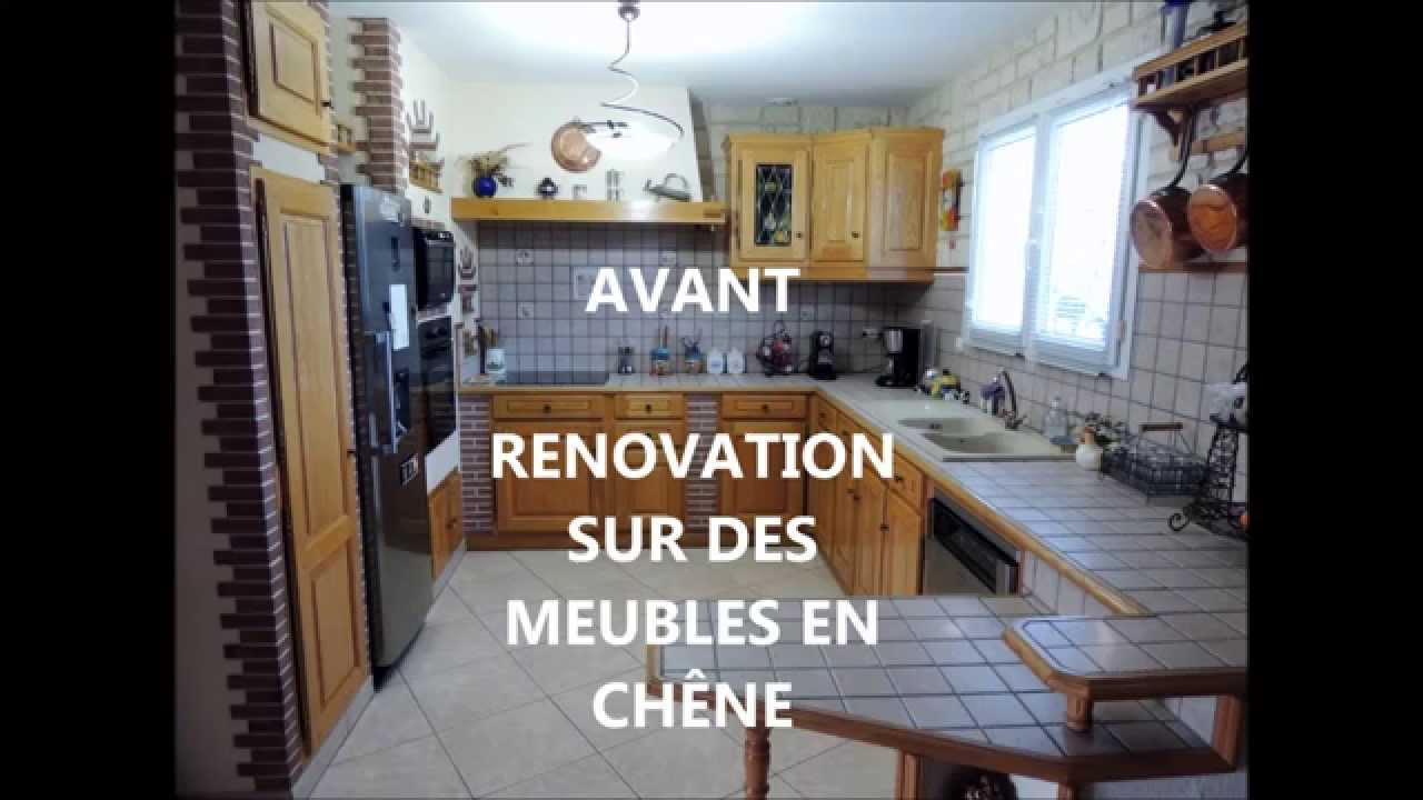 Renover la cuisine with renovation de cuisine en chene for Renovation meuble en chene