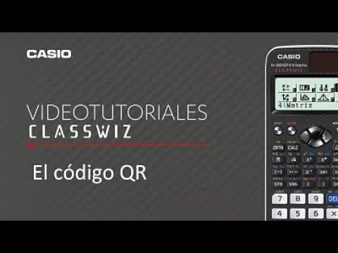 Calculadora CASIO ClassWiz: El código QR