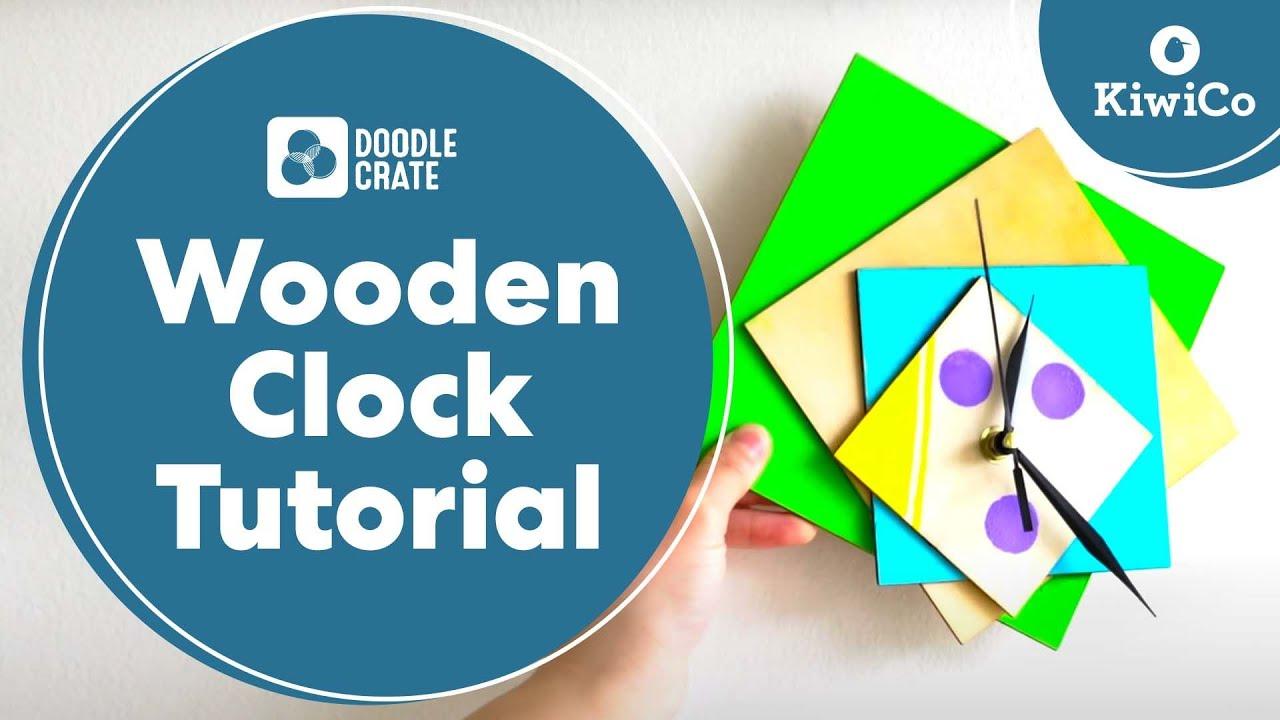 Wooden Clock Tutorial Doodle Crate Project