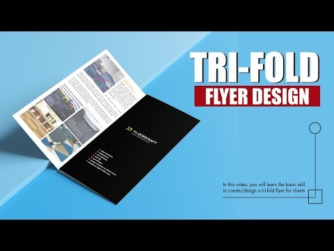 TRIFOLD FLYER / BROCHURE DESIGN - HOW TO DESIGN A TRIFOLD FLYER