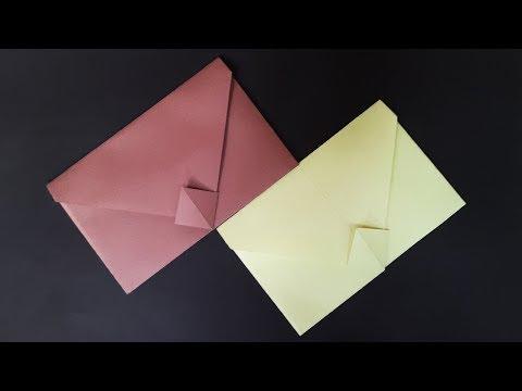 Envelope Making tutorial with Paper - DIY Easy Origami Envelope