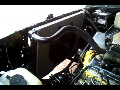 1986 Chevy C 10 Sbc 350 New Installed Electric Fan Youtube