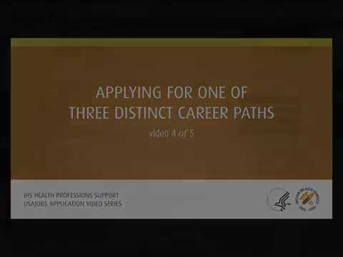 USAJOBS Video 4: Applying For One of Three Distinct Career Paths