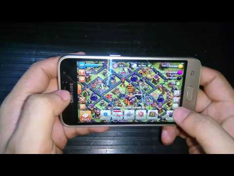 SAMSUNG GALAXY J1 2016 ANTUTU SCORE and GAME TEST clash of clans and Asphalt 8: Airborne